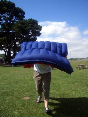 Airbeds are great for camping