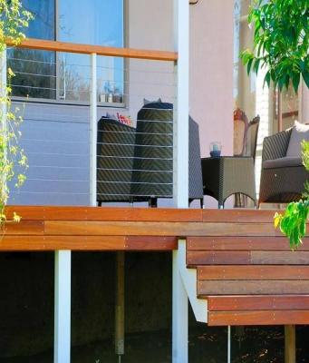 Beautiful Hardwood Timber Deck Design Services
