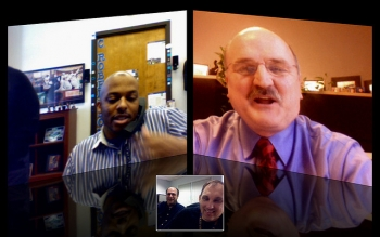 full-screen video conferencing with chandar and greg