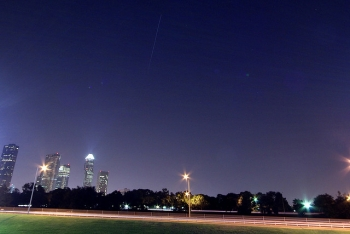 International Space Station Over Houston