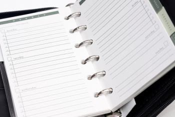 Personal organizer with metallic ring binder