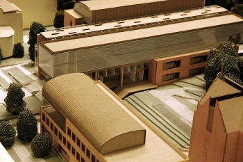 UW Architectural Commission, Model of the new School of Business,  University of Washington, Seattle, USA