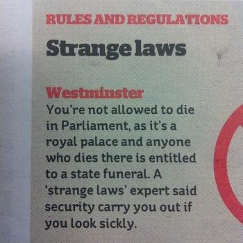 (Very) Strange Laws.