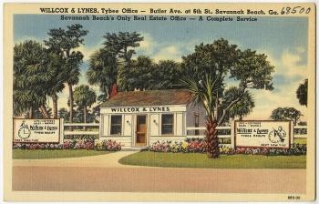 Willcox & Lynes, Tybee office- Butler Ave. at 6th Ave St., Savannah Beach, Ga., Savannah Beach