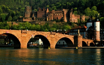Castle and the Old Bridge, Heidelberg, Germany