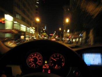 Driving down 4th Avenue in Seattle