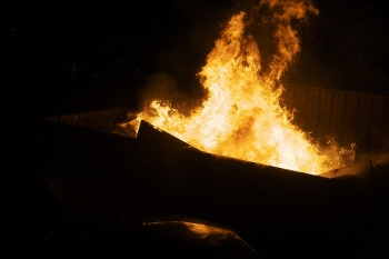 Fire in Dumpster