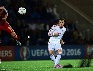 Gareth Bale not Impressed by Andorras Pitch