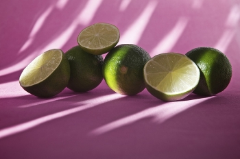 Limes On Pink