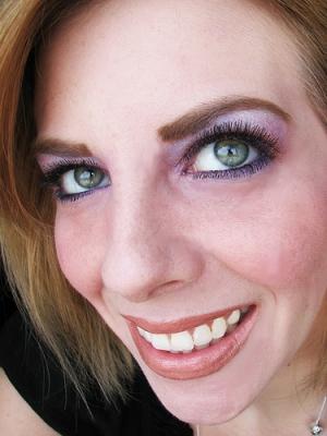 mac cosmetics and milani, self portrait on green eyes