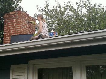 My wife is the handy man. Chimney repair.