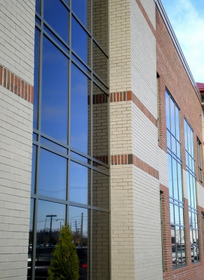 New medical buildings in Downtown Saginaw.