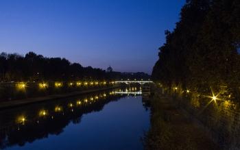 River in Rome, Italy