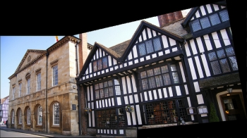 Town Hall and Shakespeare Hotel - Stratford Upon Avon - panoramic