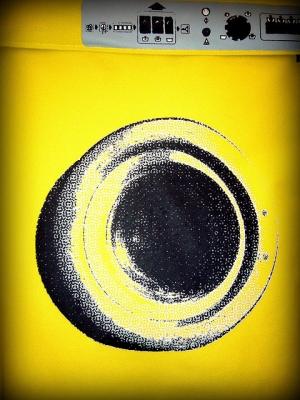 yellow washing machine