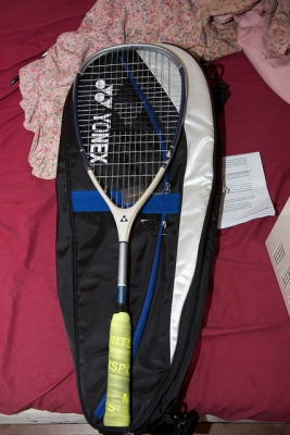 Yonex 2 raquet tennis bag  30,000 Won,Fischer squash racquet 50,000 won